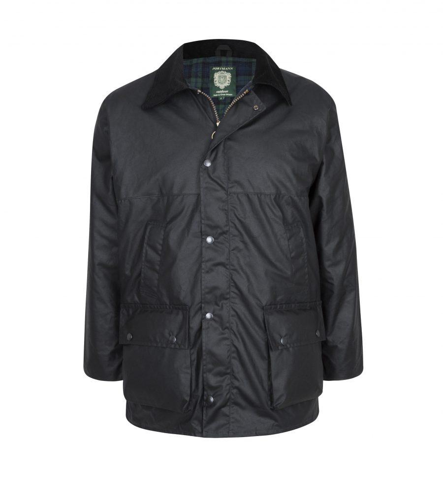 mens padded wax jacket
